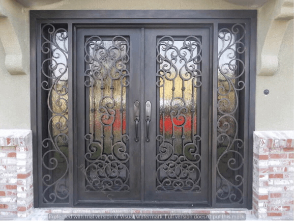 Iron Front Door by iwantthatdoor.com