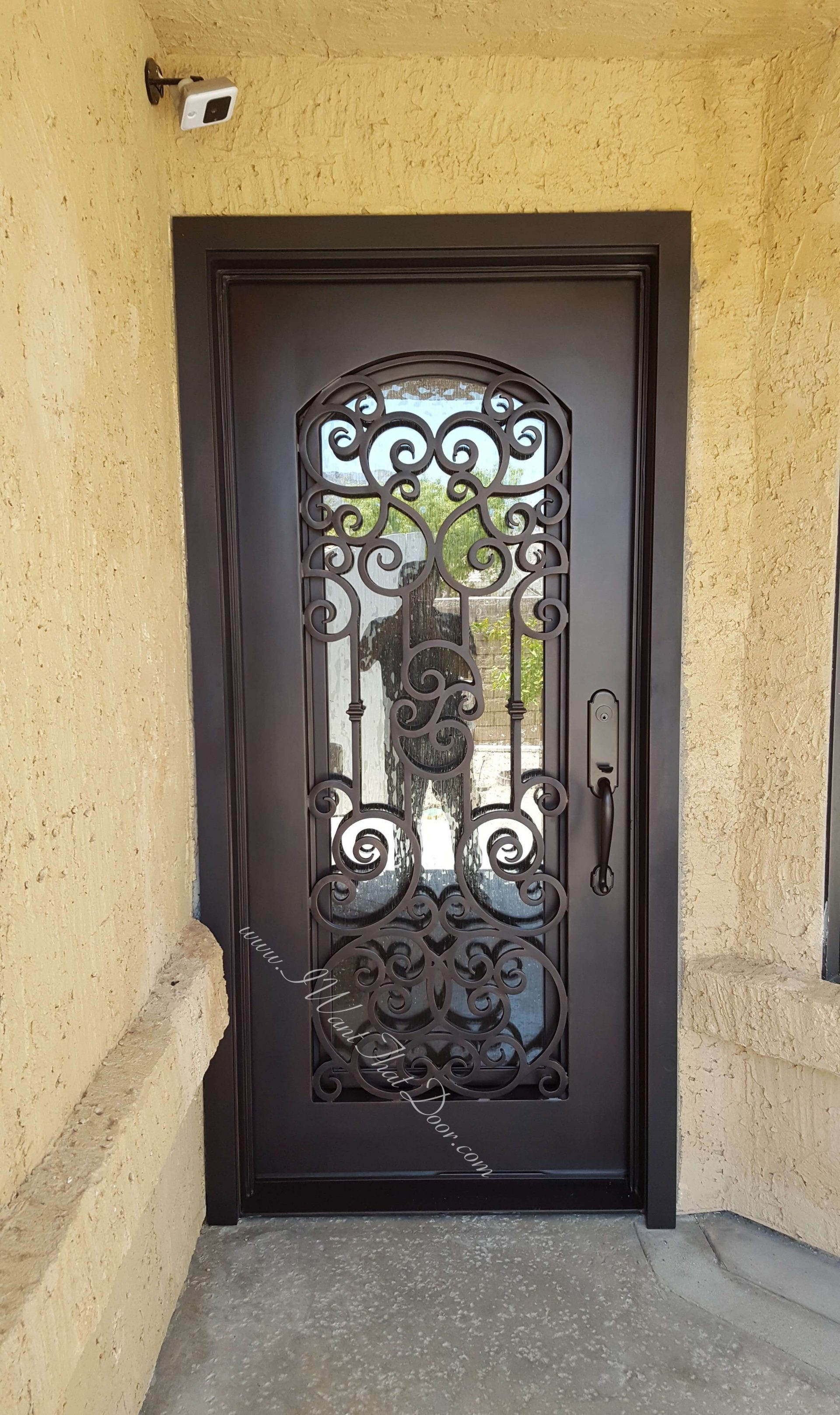 80 Alluring Front Door Designs To Refine Your Home: Iron Main Gate Designs For Home