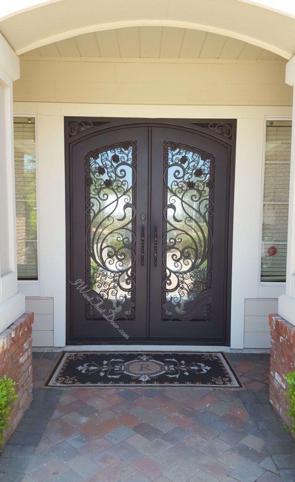 Apollo Square Top Garden Iron Doors