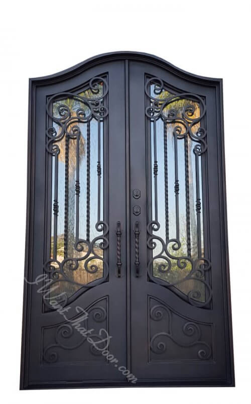 Avia Iron Doors with Custom Top Design