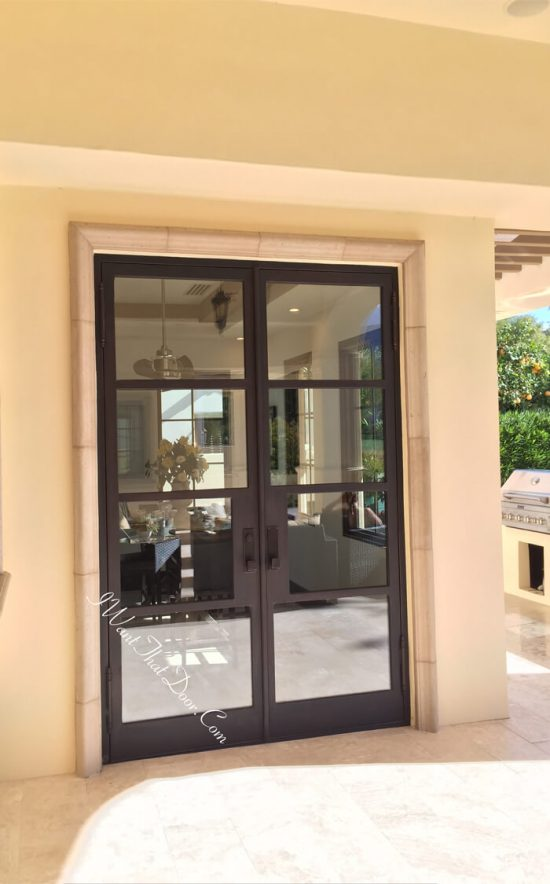 Secure Exterior Iron French Doors