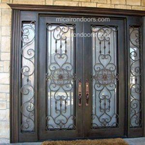 Palazzo w/ Sidelights Iron Front Doors