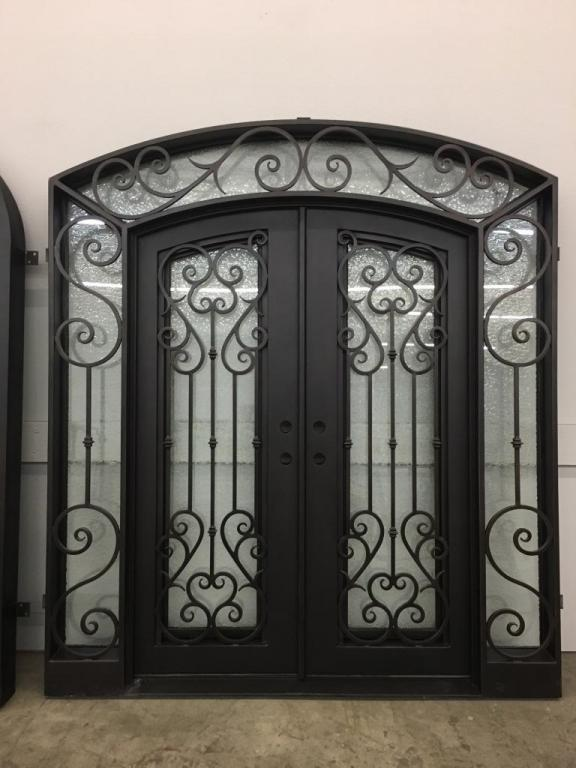 Vatican Eyebrow Top w/ Sidelights Double Iron Doors