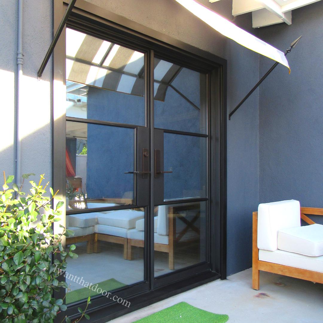 Custom Iron Backyard French Doors