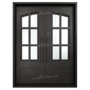 Essex Double Entry Iron Doors (Front of Door View)