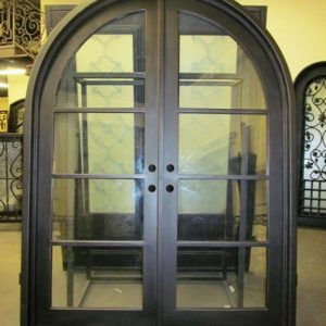 French Round Top Double Entry Iron Doors