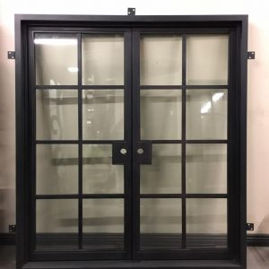 French Square Top Double Entry Iron Doors