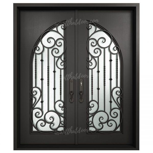 Libby Double Entry Iron Doors (Front of Door View)