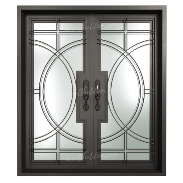 Nairobi Steel Double Entry Doors (Front View)