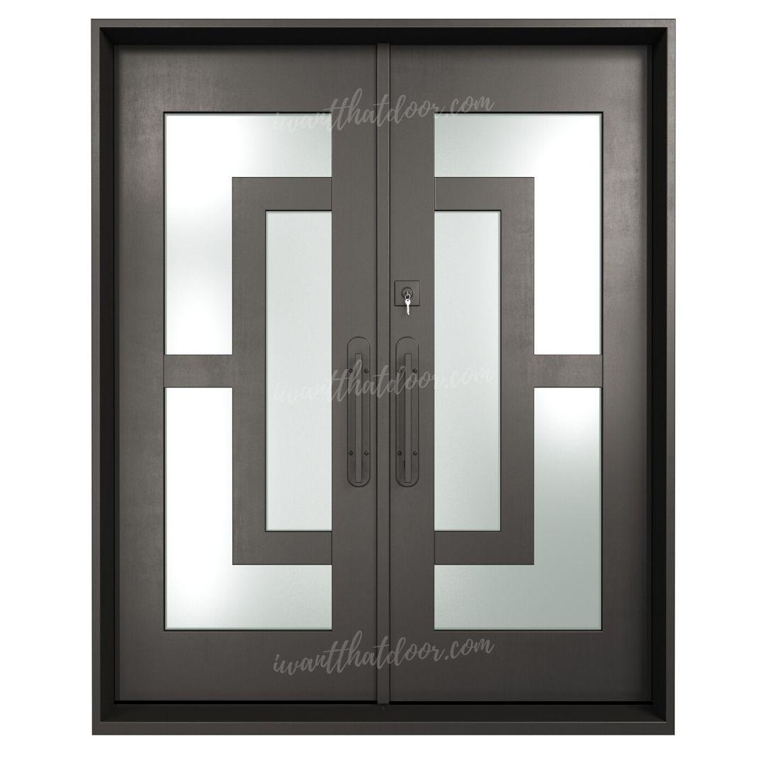 Oslo Double Entry Iron Doors (Front of Door View)