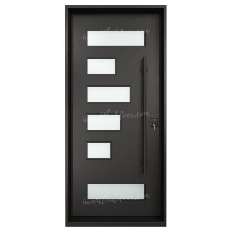 Paco Single Entry Iron Doors (Front of Door View)