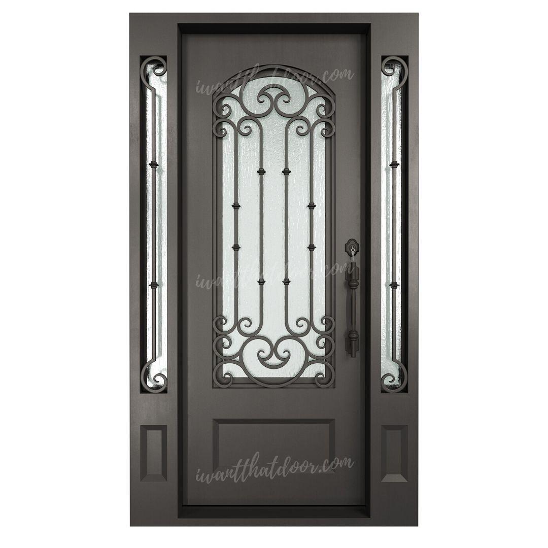 Ribota Single Entry Iron Door w/ Sidelights