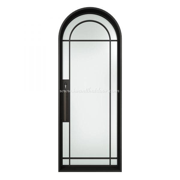Lucid Round Single Entry Steel French Door