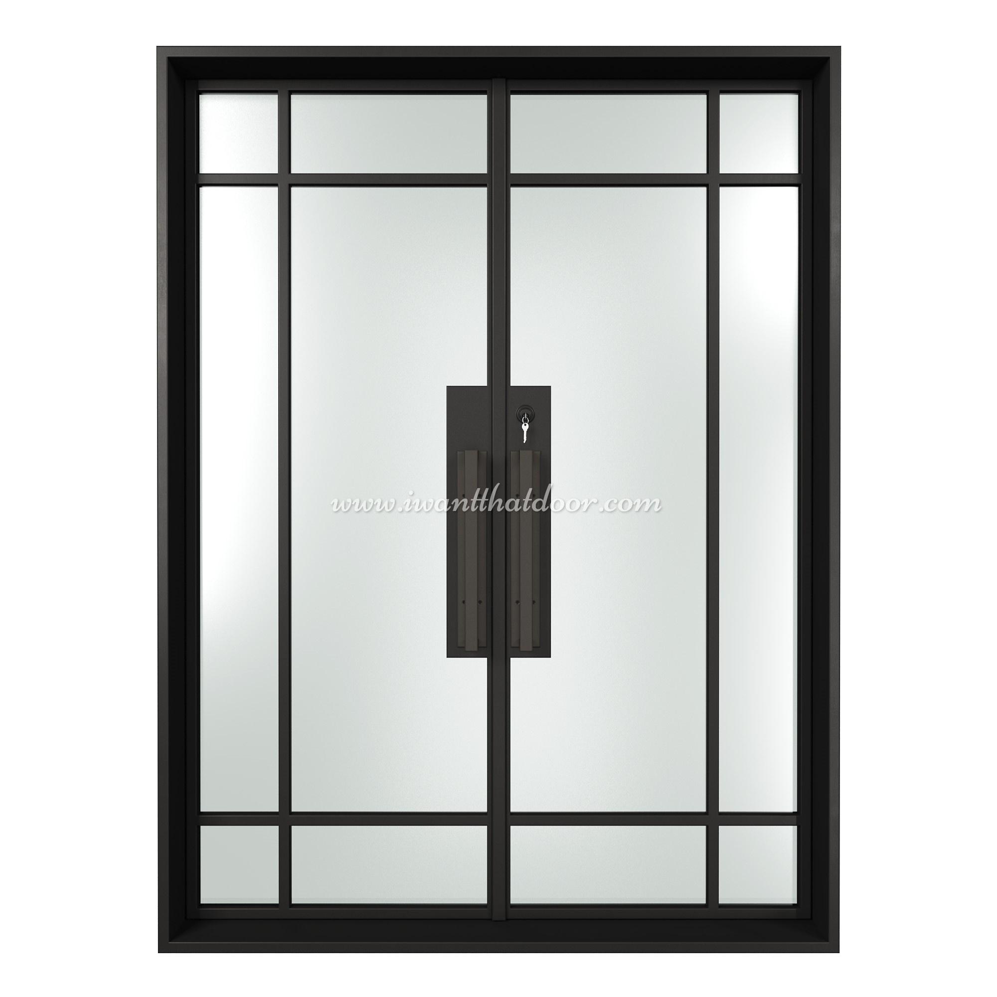 Pellucid Double Entry Steel French Door